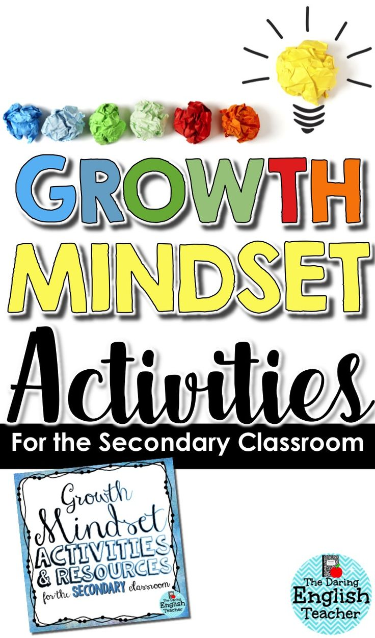 Growth mindset activities for the secondary classroom. Embrace a growth mindset in your classroom today. This resource includes exit slips, reflection assignments, activities, writing prompts, and more! High school activities. Back to school. Middle school activities. AVID activities.