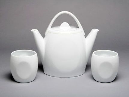 """A pretty unique teapot """"designed to be shared."""" For sale too."""