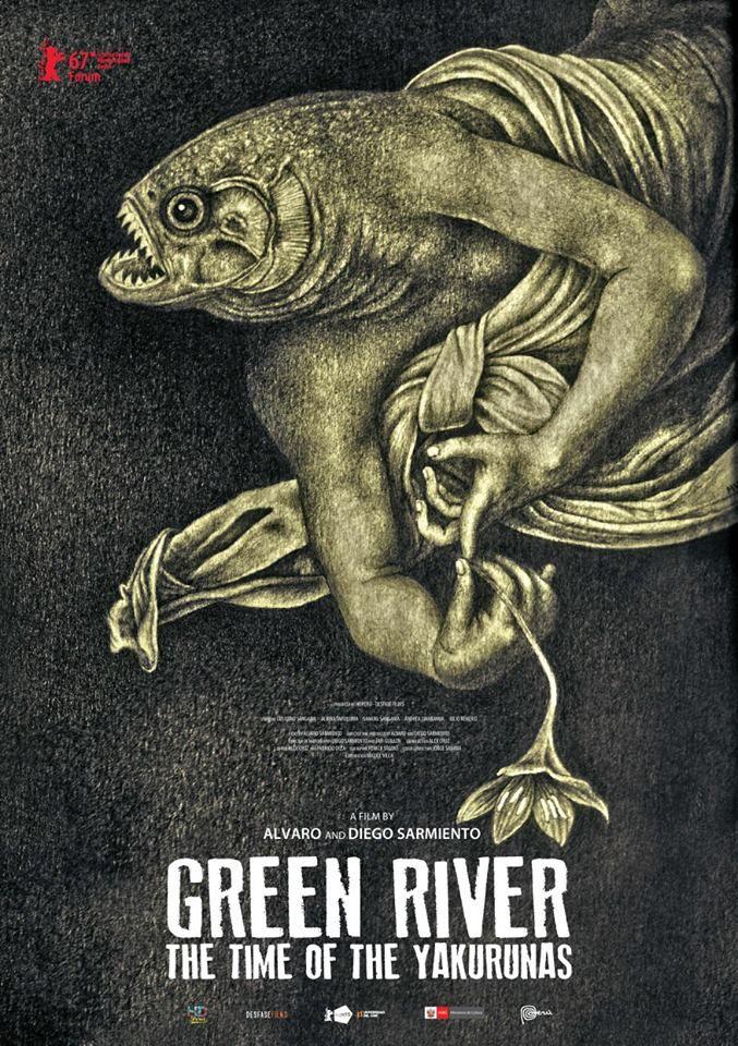 Río Verde. El tiempo de los Yakurunas (Green River. The Time of the Yakurunas) by Alvaro Sarmiento and Diego Sarmiento. Berlinale Forum documentaries. Poster.