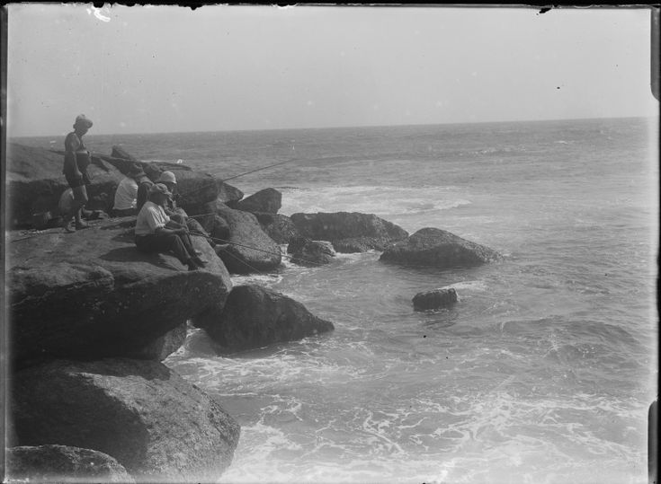 007691PD: Fishing off rocks at Nornalup, ca.1925.  http://encore.slwa.wa.gov.au/iii/encore/record/C__Rb2117200__Sfishing%20off%20rocks__Orightresult__U__X6?lang=eng&suite=def