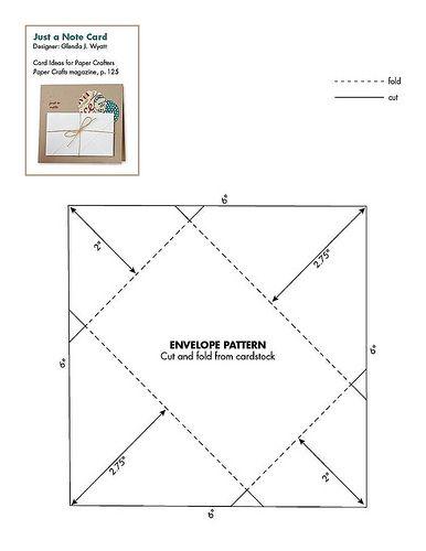 6 x 8 envelope template - free paper patterns envelope my stuff pinterest