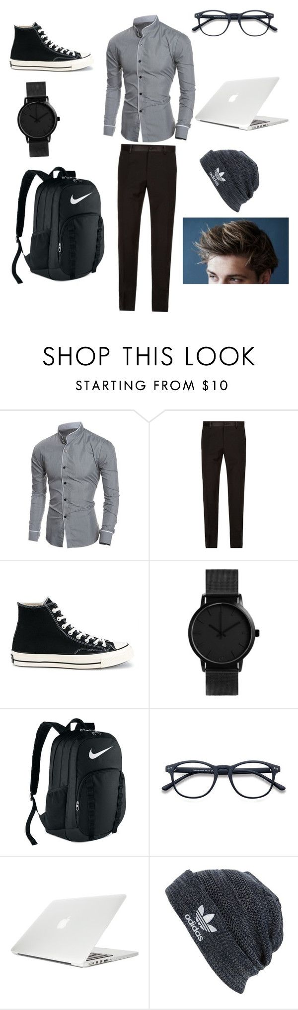 """College student style."" by camille-lajoie on Polyvore featuring Dolce&Gabbana, Converse, NIKE, Moshi, adidas, men's fashion and menswear"