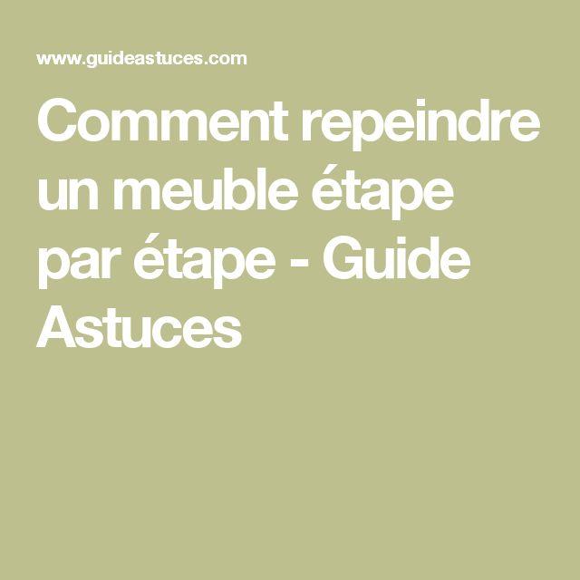 Comment repeindre un meuble étape par étape - Guide Astuces