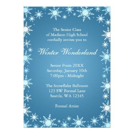 66 best prom images on pinterest invitation invitations and lyrics winter wonderland prom invitations stopboris Images