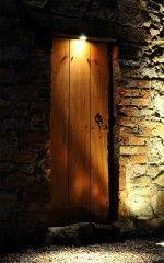 Downlighting on a garden door - Hex Lighting Ltd., Garden Lighting