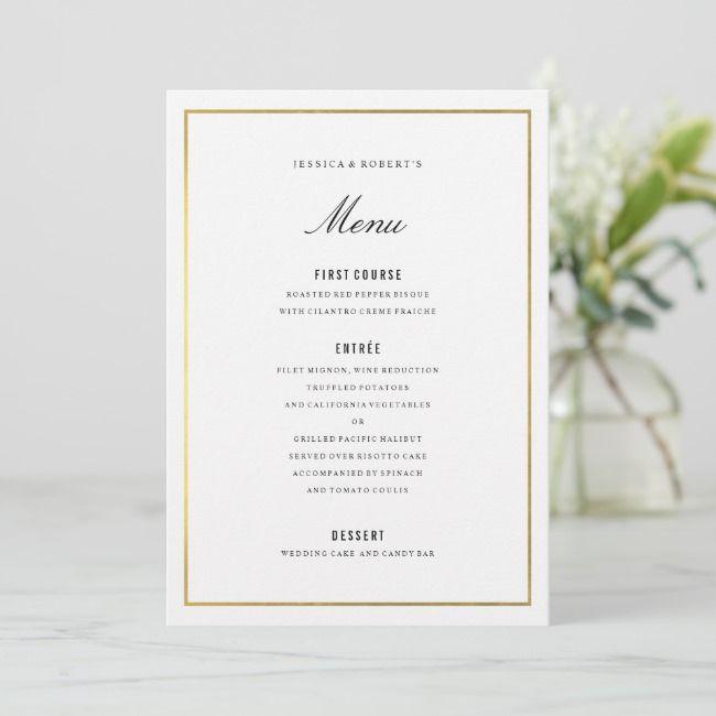 Create Your Own Flat Menu Zazzle Com Wedding Menu Cards