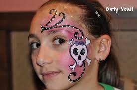 pirates girl face paint -