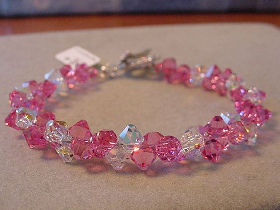 Pink Rose and Crystal AB SWAROVSKI Crystal by Magicclosetbling