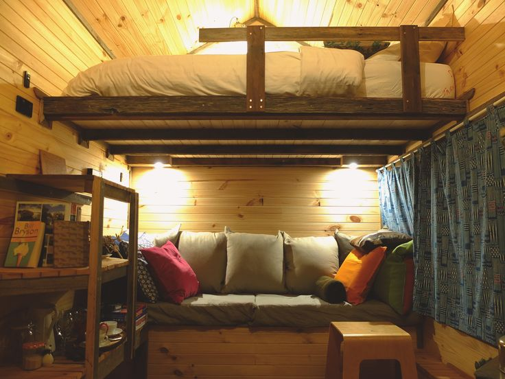 Pretty cosy inside this tiny house!
