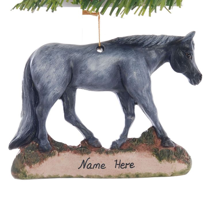 Blue Roan Horse Christmas ornament - personalized ornament with your name, phrase or year - handmade in the USA from durable resin (227) by Christmaskeeper on Etsy