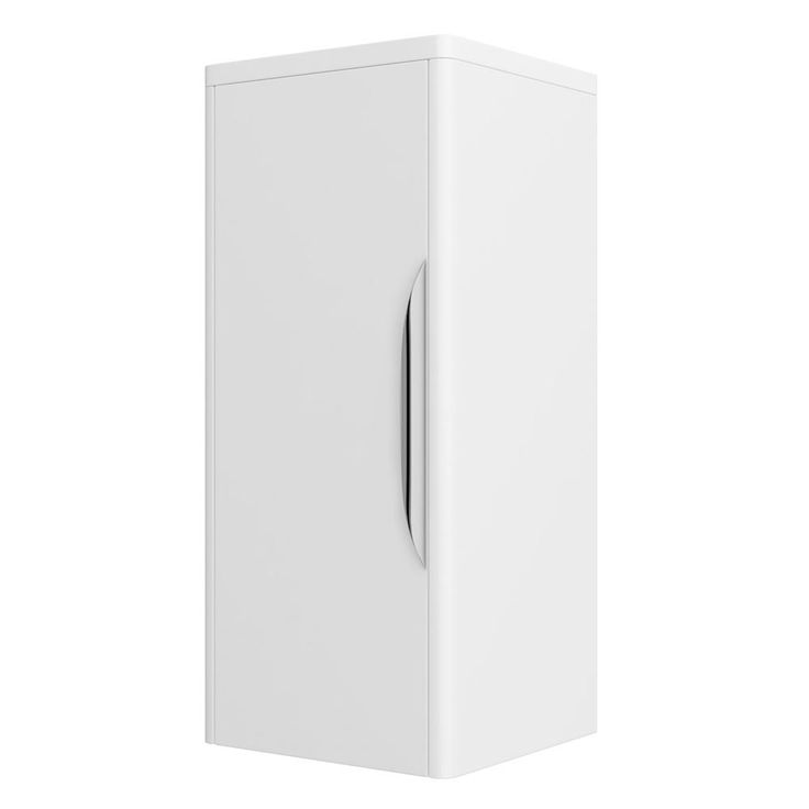 Shop the Monza Wall Mounted Medium Cupboard online. High Gloss White finish. Features soft closing doors. Now in stock at Victorian Plumbing.co.uk.