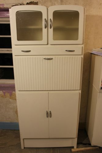 Original 1950s To 1960s Vintage Kitchen Pantry Larder Cupboard Unit