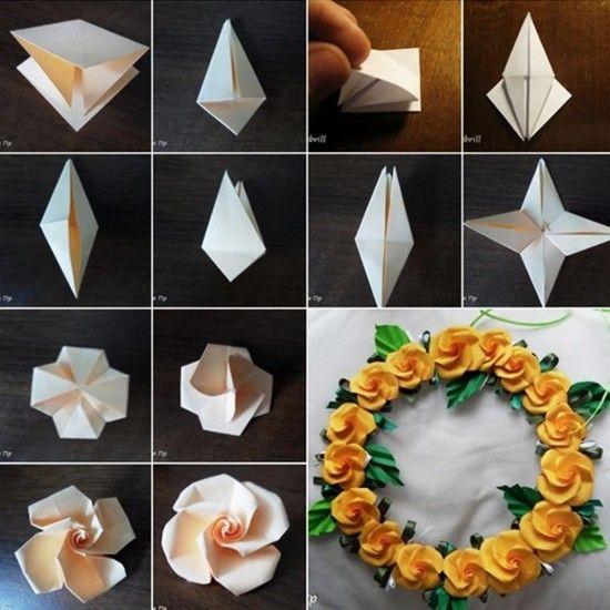 Origami Paper Twisty Rose Tutorial