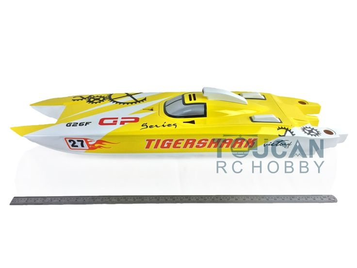 """269.99$  Know more - http://aim6g.worlditems.win/all/product.php?id=32792616157 - """"50"""""""" Big Fiber Glass Gas RC Boats KIT Bare Hull Only G30F Yellow Toy Boats Prepainted Catamaran RC Boats"""""""