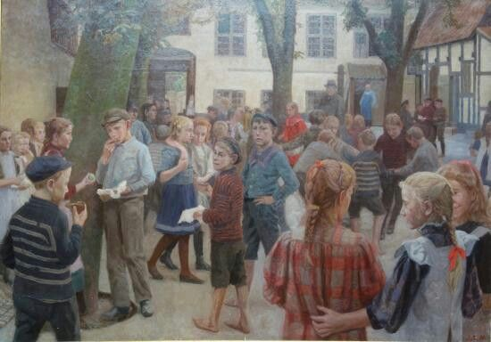 Jens Birkholm: Frikvarter i borgerskolen, 1910