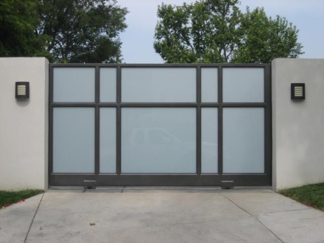 Contemporary Driveway/carport Gates   Aluminum U0026 Glass U2014 LiveModern: Your  Best Modern Home