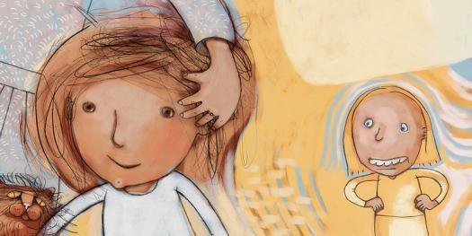 "Illustration to childrenbook, ""Prins Storm"" by Ingunn Røyset"