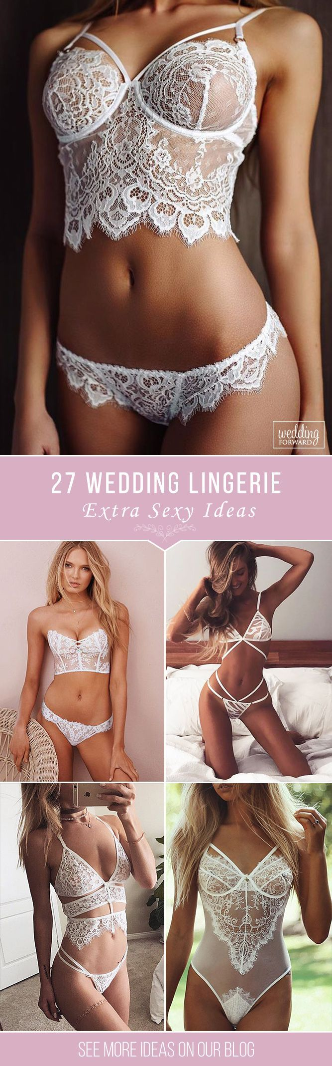 27 Extra Sexy Wedding Lingerie ❤️ Make your wedding day and wedding-night perfect with a stunning wedding lingerie from our list below. Show your sexiness to your groom! See more: http://www.weddingforward.com/wedding-lingerie/ #weddings #lingerie