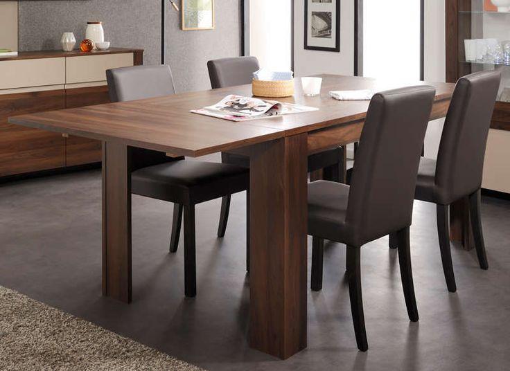 Table extensible salle à manger Salvador Noyer pas cher prix promo Table…