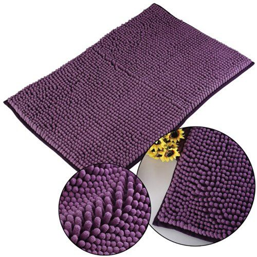 CITY 40*60cm Washable Nonslip Microfiber Chenille Floor Mat Bedroom Area Rug Carpet Bathroom New Shaggy Rugs Non Slip Bath Mat (Purple) CITY http://www.amazon.ca/dp/B00NL72QXS/ref=cm_sw_r_pi_dp_yay.vb02YPJZZ