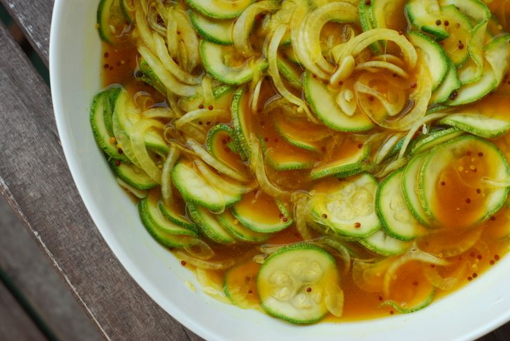 One of my favorite recipes for zucchini - Zuni Cafe's Zucchini Pickles
