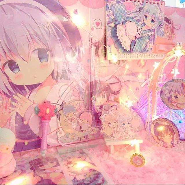 コミトレの戦利品など飾りました♪ #ごちうさ#ご注文はうさぎですか#チノちゃん #gochiusa #痛部屋#otaku #コミトレ#ゆめかわいい#メルヘン#飾る