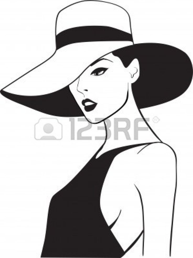 The beautiful woman in a hat