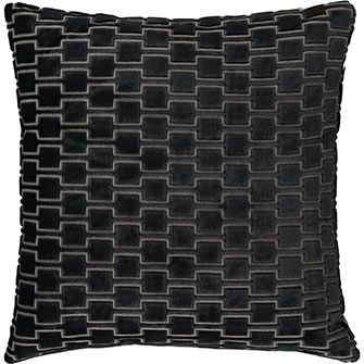 Grey Geometric Patterned Cushion