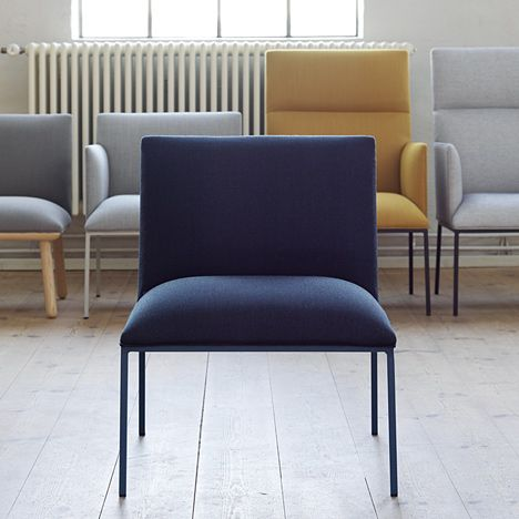 Swedish designer Stefan Borselius has created a series of minimal chairs for Swedish furniture brand Fogia