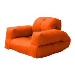 Hippo Convertible Futon Chair/Bed, Orange Mattress 339$