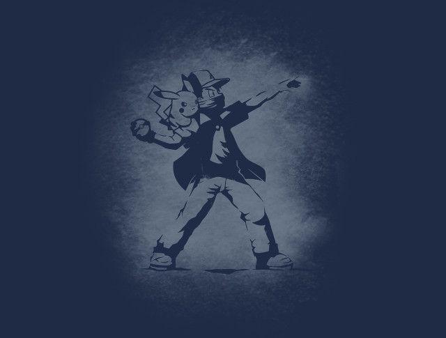 Banksy Pokeball T-Shirt - Ash Ketchum T-Shirt is $15 at TeeFury!