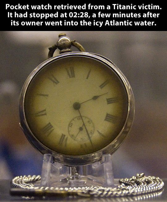 Pocket watch from a Titanic victim.  Unforgettable...never forgotten...not the tragedy, the people,(both the deceased and the survivors), and not the pieces of history left behind...like this watch.  Everthing tells a story...THE story!