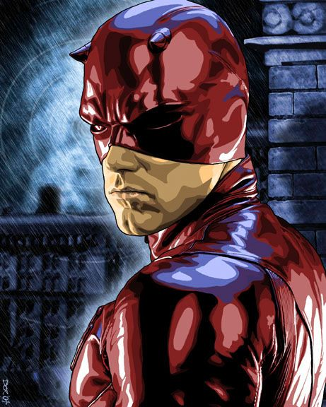 Dare Devil -even though I'm the only person in the world who enjoyed this movie i have to repin this because someone did an awesome job.