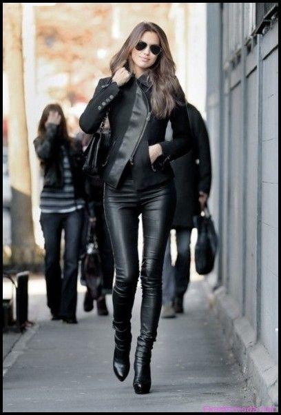 siyah deri pantolon kombini - Google'da Ara