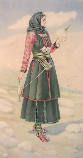 TRAVEL'IN GREECE I Peasant Woman 's Dress, #Epirus
