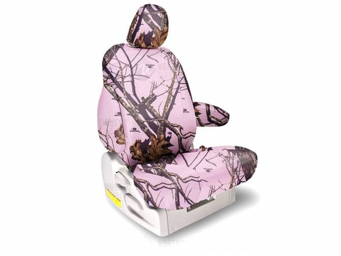 Northwest Mossy Oak Solid Pink Camo Seat Covers