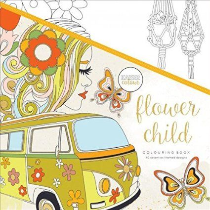 KaiserColour Perfect Bound Coloring Book-Flower Child