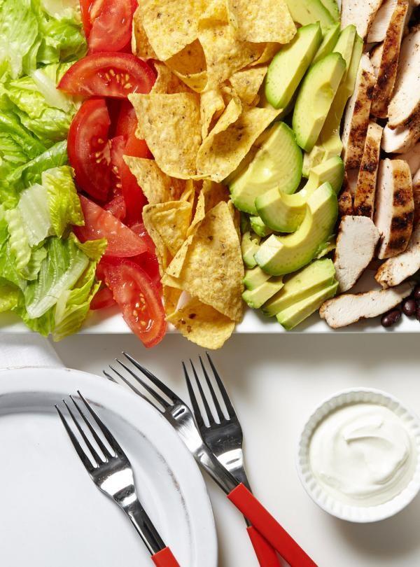 Recette de salade-taco au poulet de Ricardo