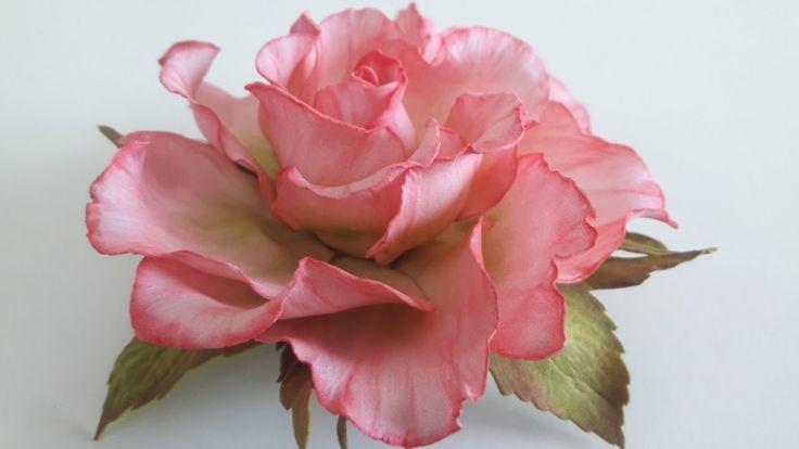 МК.Роза с фоамирана! часть №1 How to make a rose from foamirana! Part №1