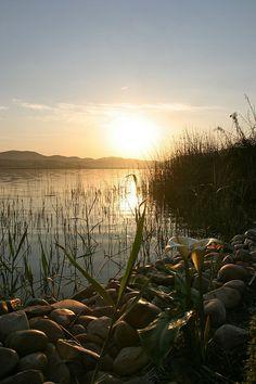 sunrise over lake pleasant , Sedgefield