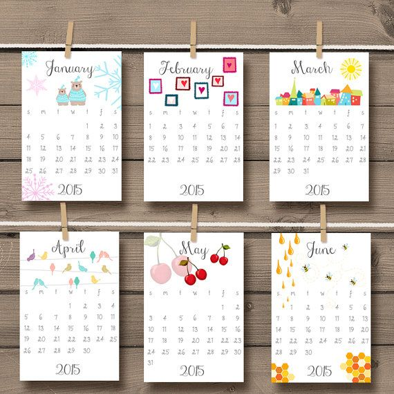 Calendar Photo Ideas For Each Month : Printable calendar wall desk