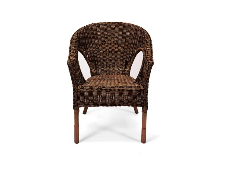 Ruzi Wicker Chair Mahogany - R500