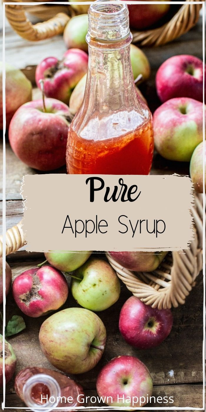 Homemade Pure Apple Syrup Home Grown Happiness In 2020 Apple Syrup Recipe Apple Recipes Easy Healthy Apple Recipes To Freeze