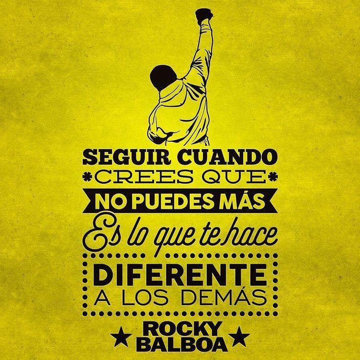 Y avanzar mientras te golpean...así es como se gana. #rocky #rockybalboa #exito #picoftheday #felizsabado #fight #success #sentence