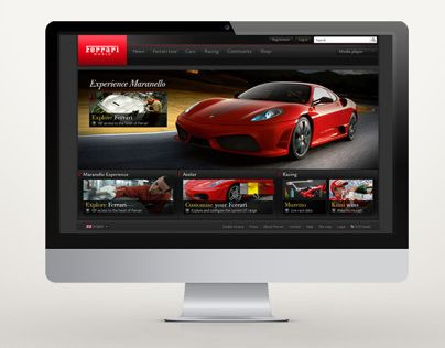 """Check out this @Behance project: """"ferrari global site"""" https://www.behance.net/gallery/12436367/ferrari-global-site"""