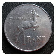 1989 One Rand South African Coin for R7.50