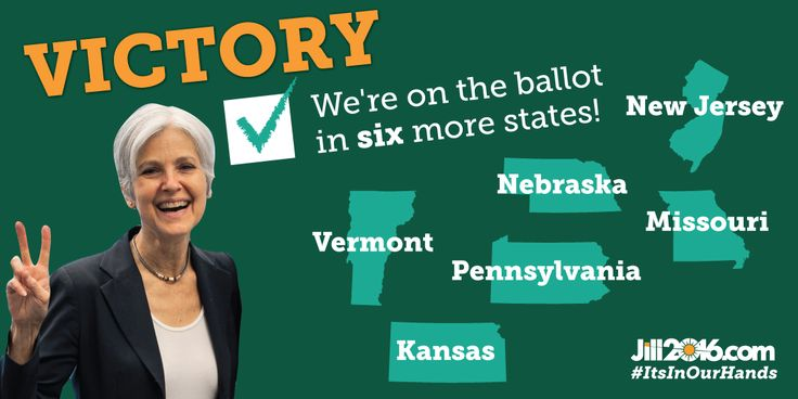 Green Party Presidential candidate Dr. Jill Stein has submitted more than enough signatures to get on the ballot in 6 more states: Kansas,…