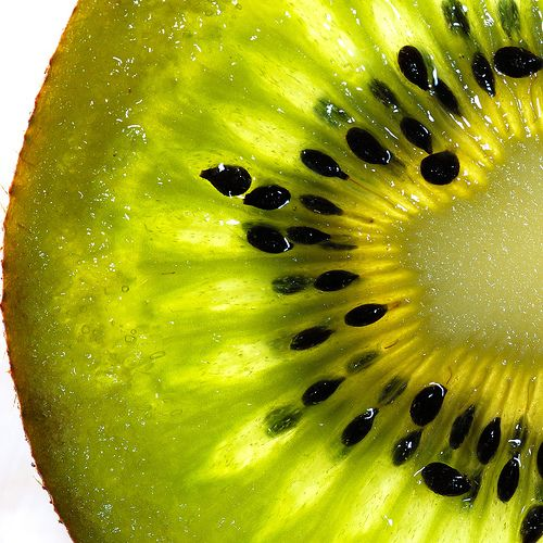 Kiwi: Like oranges, high in vitamin C, which is Collagen's bedmate to keep skin cells plump and wrinkle free.
