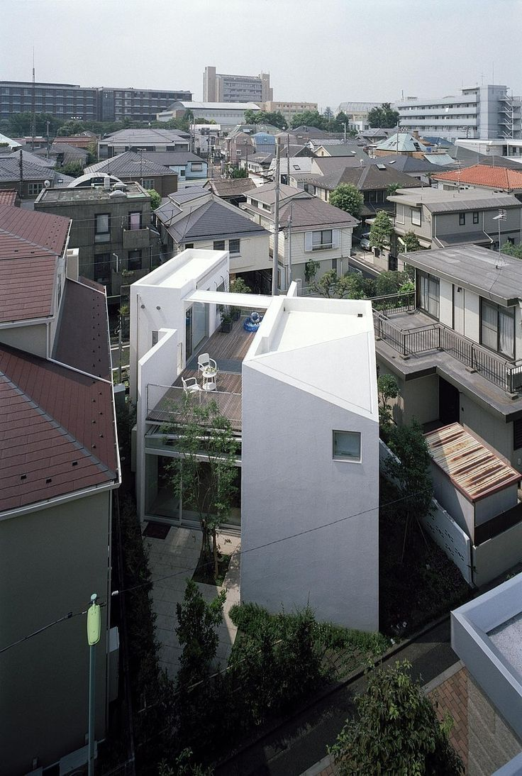 House I by Asai Architects This futuristic two-storey residence designed in 2013 is located in a residential area in Setagaya-ku, Tokyo, Japan.