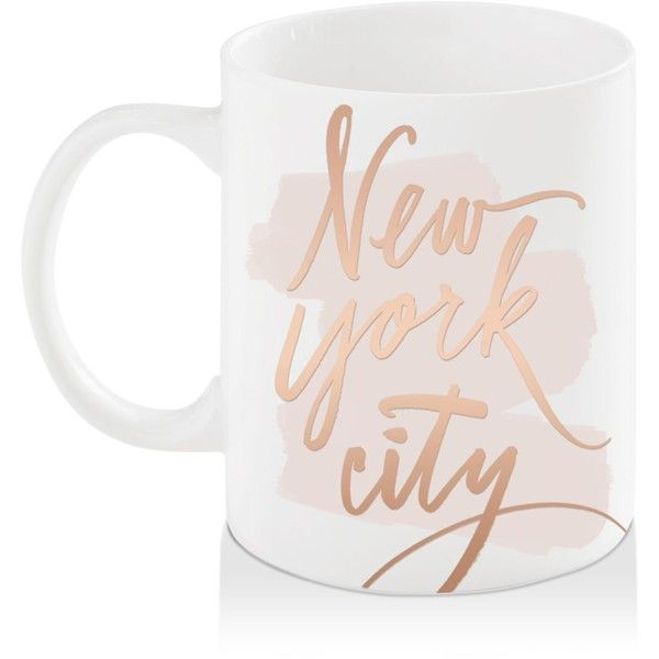 Bloomingdale's Nyc Brush Mug - 100% Exclusive (€10) ❤ liked on Polyvore featuring home, kitchen & dining and drinkware